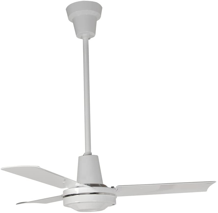 Leading Edge 36201 Heavy Duty Ceiling Fan, 12500 CFM, White