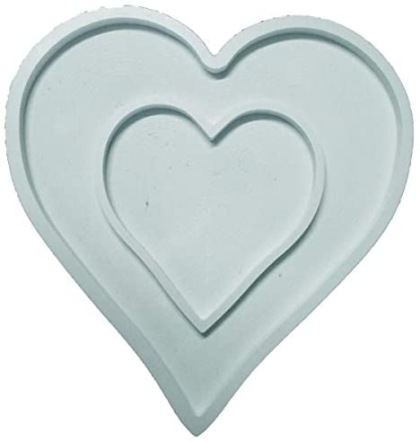 Organza Plus Heart Shaped Wooden Candy Chocolate Board Dish for Buffet Empty Heart Tray