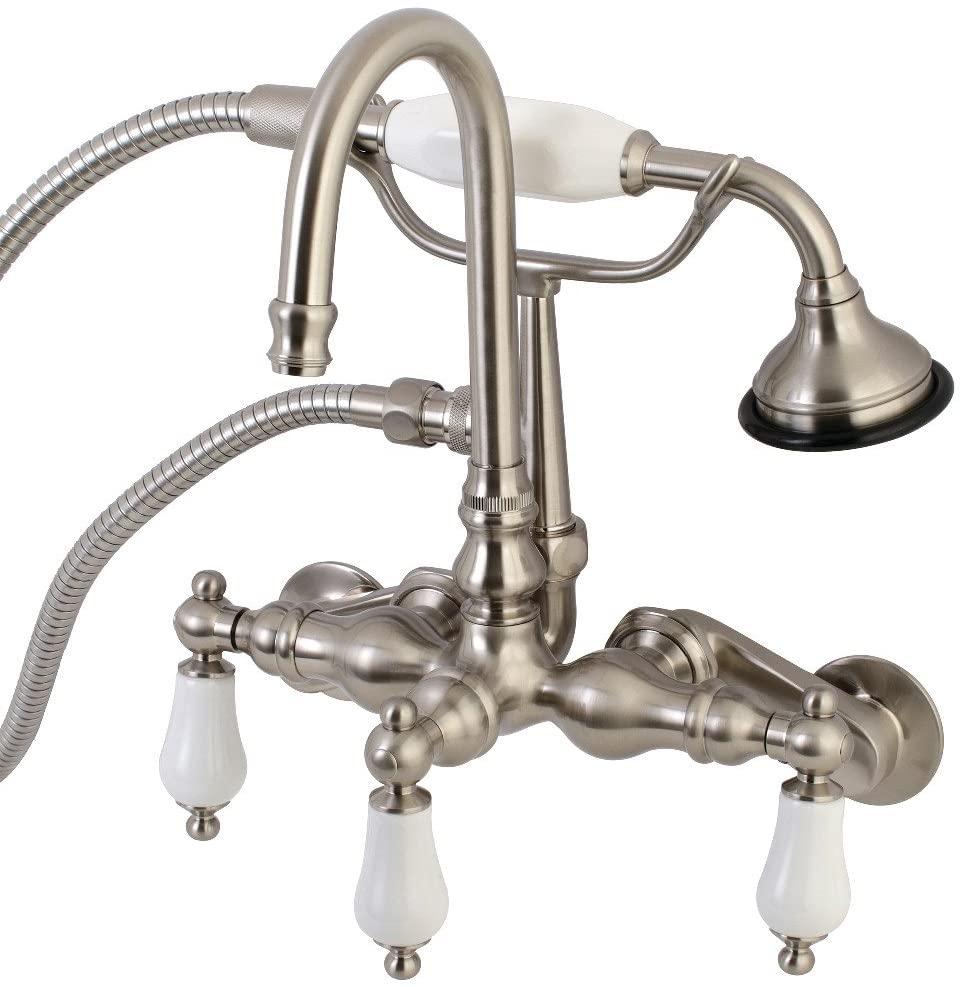Kingston Brass AE305T8 Vintage Tub Faucet, Satin, Brushed Nickel