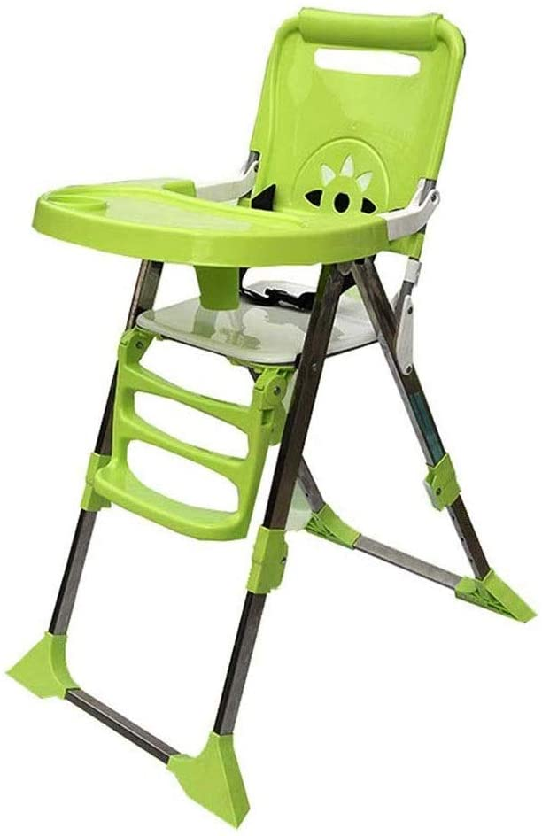 CHENNAO Mama Highchair - Compact Padded Baby High Low Chair Complete with Double Tray & Storage Basket