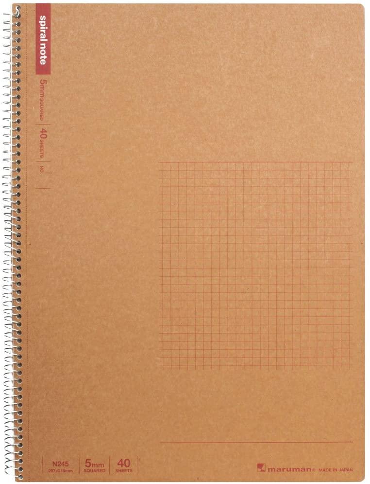 Maruman A4 spiral notebook grid ruled 40 sheets N245 5 volume set