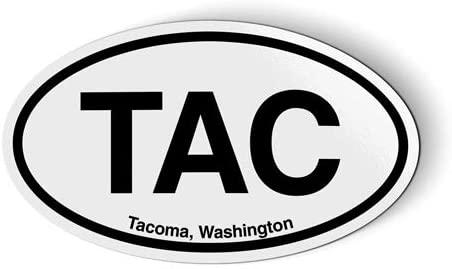 Stickers & Tees TAC Tacoma Washington Oval - Car Magnet - 5