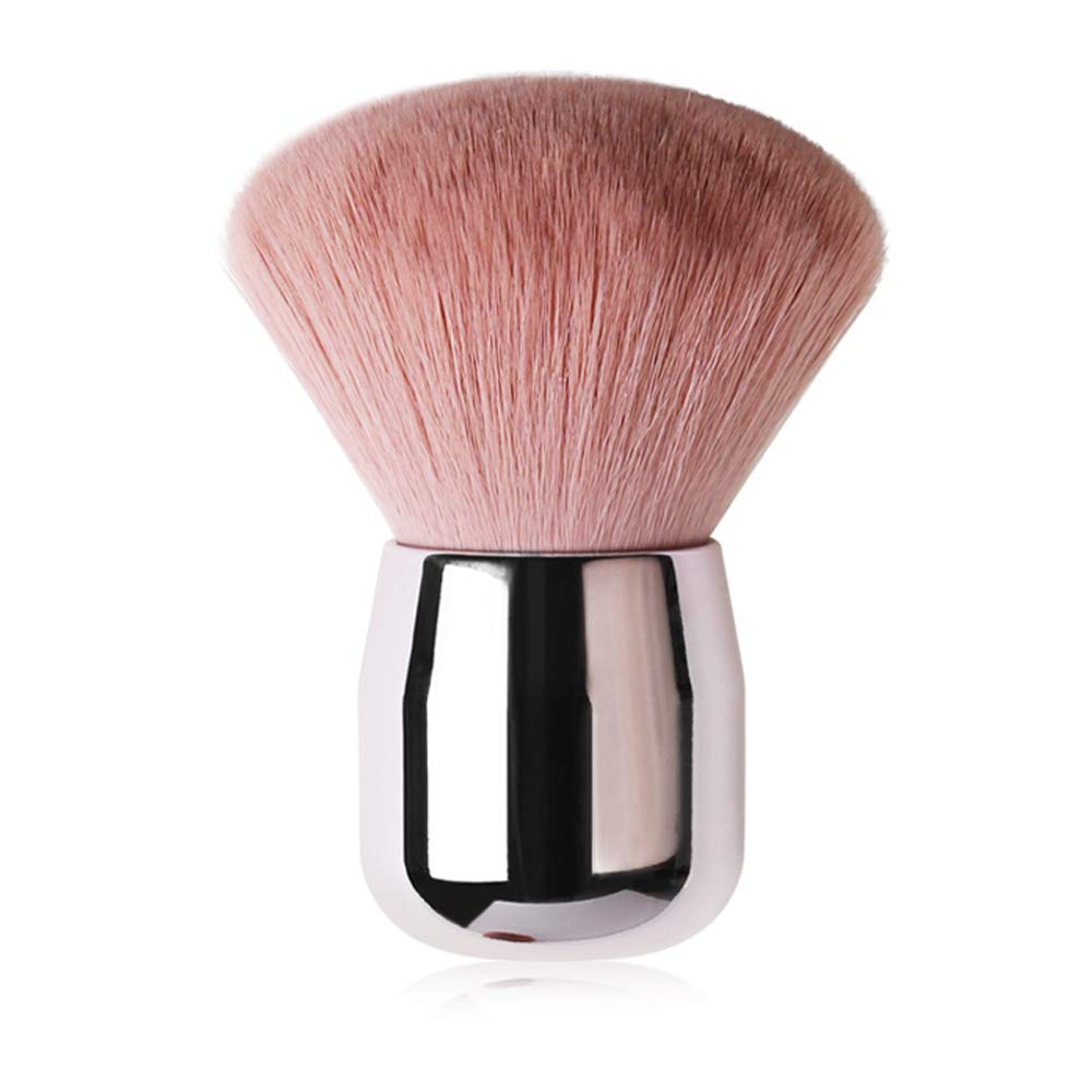 Tenmon Kabuki Powder Foundation Brush Portable Loose Powder Angled Large Face Blush Brush Makeup Brush Tool