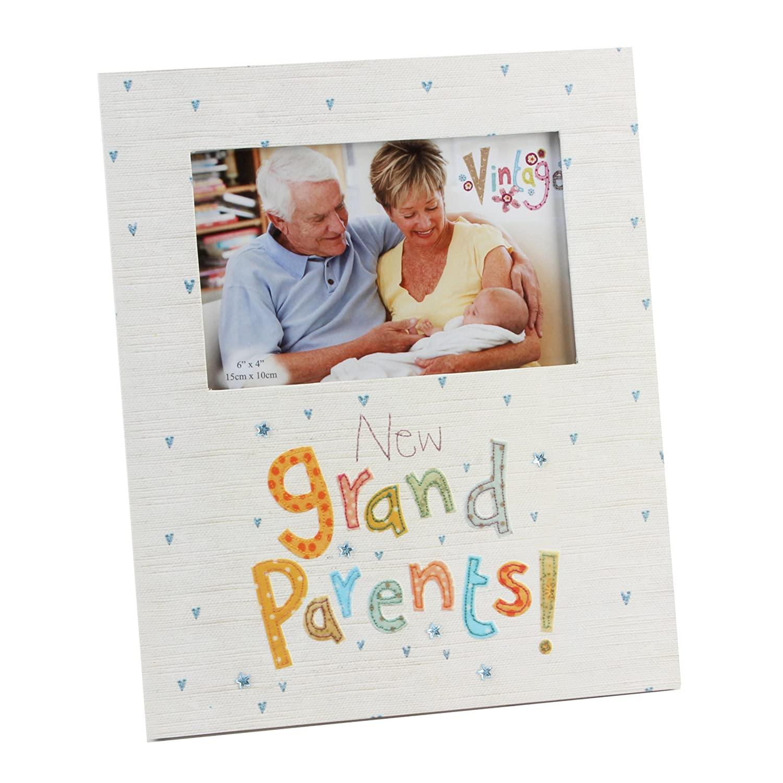 New Grandparents Frame Blue Eyed Sun Vintage Collection MDF Photo Frame 6x4