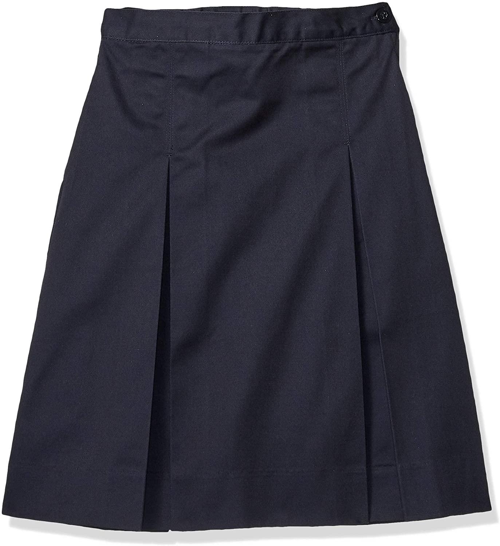 Classroom Big Girls' Kick Pleat Skirt, Navy Blue, 7