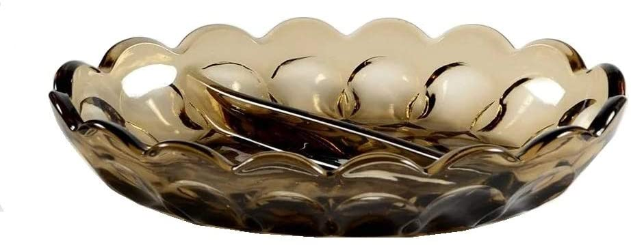 Anchor Hocking Fairfield Brown Glass (2-Part Relish Dish)