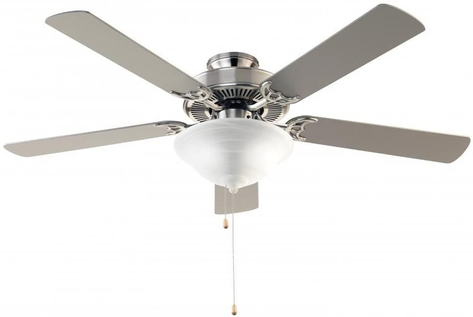 Trans Globe Imports F-1000 BN Transitional 52``Ceiling Fan from Solana Collection in Pwt, Nckl, B/S, Slvr. Finish, 52.00 inches, Brushed Nickel