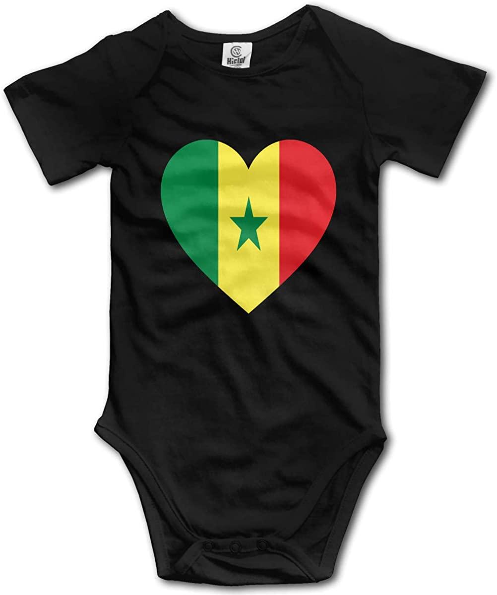 Baby Short-Sleeve Onesies Love Senegal Flag Bodysuit Baby Outfits