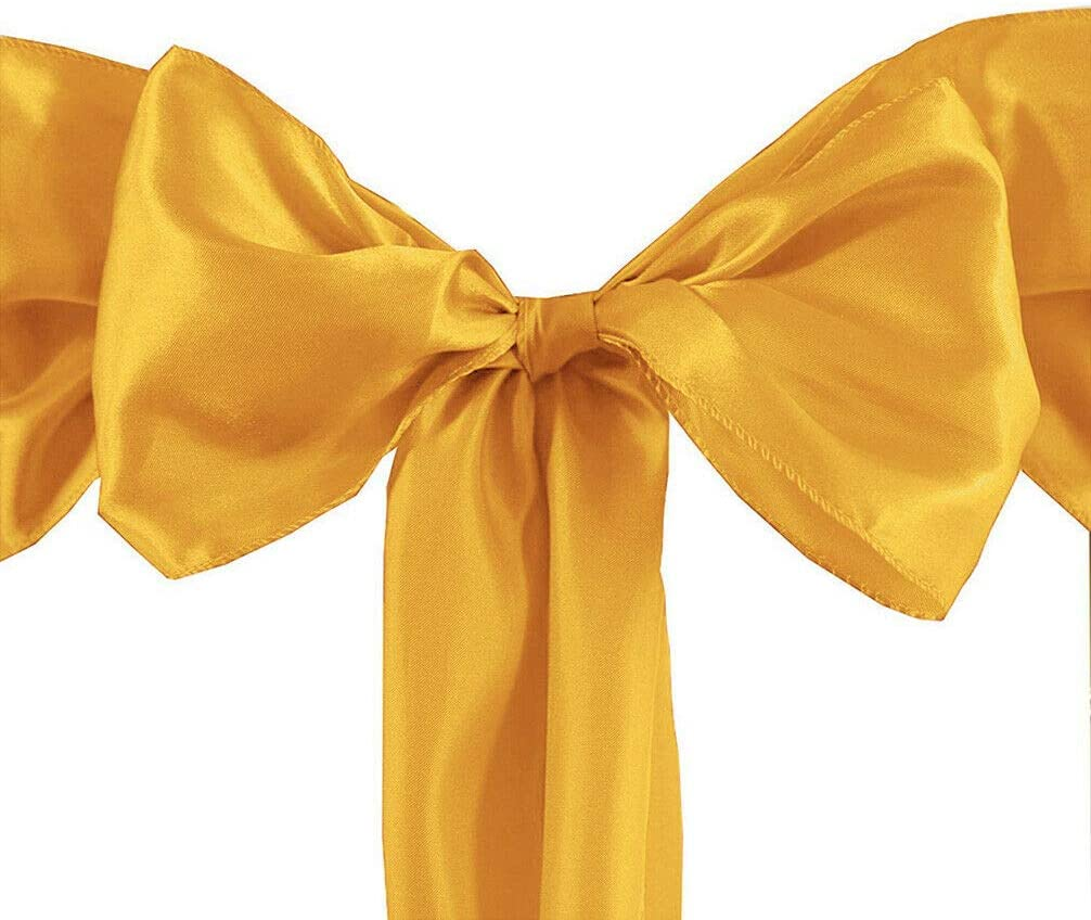 jassi.jae 50 Satin Chair Ties Bows Wedding Party Catering Reception Decorations