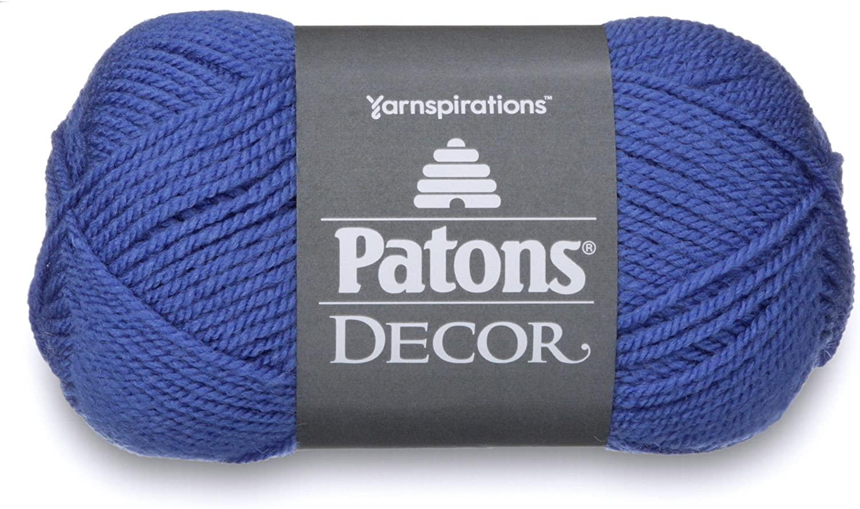 Patons  Decor Yarn - (4) Medium Worsted Gauge  - 3.5oz -  Amparo Blue -   For Crochet, Knitting & Crafting