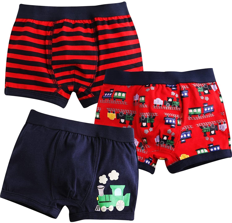 Collager 2t-7t Toddler Kids Underwear Boxer Briefs 3-Pack Set Baby Boy Underpants