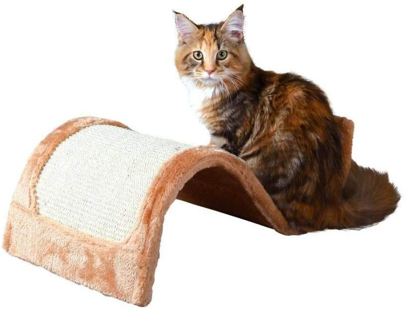 Cat Wool Wavy Sisal 29x18x50cm, Brown Cat Wool Wavy Sisal 29x18x50cm, Gray/Natural, Trixie, Scratches, Cats