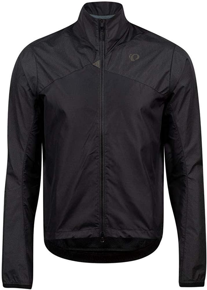 PEARL IZUMI Men's BioViz Barrier Jacket, Black/Reflective Triad, XXL