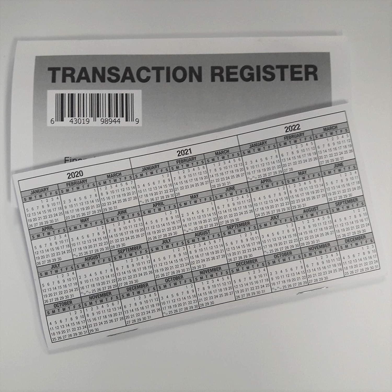 5 - Checkbook Registers - 2020-21-22 Calendar Transactions Checking Book Bank