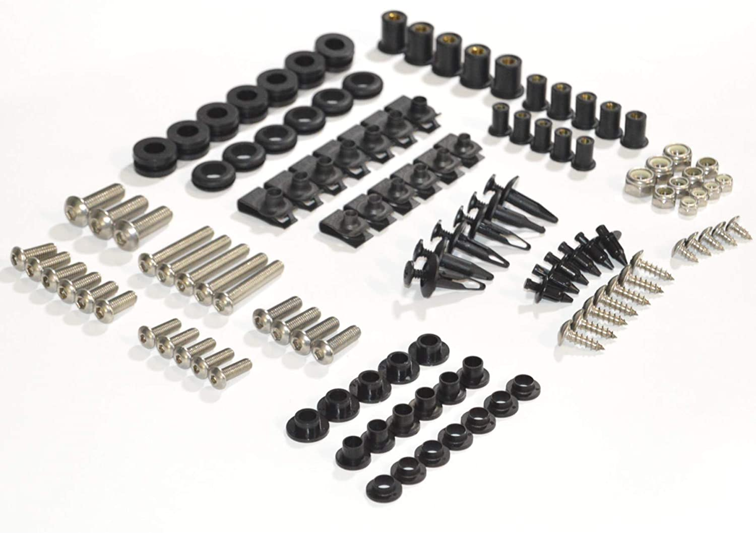 Complete Motorcycle Fairing Bolt Kit For Kawasaki Ninja ZX-12R 2002-2005 Body Screws, Fasteners, and Hardware