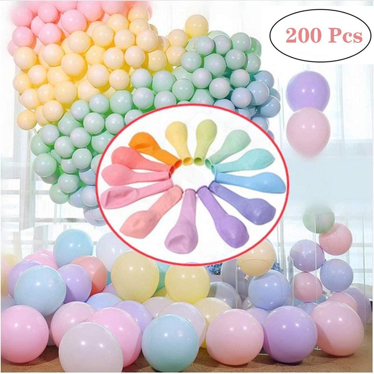 HaMoSena 200pcs Pastel Latex Balloons 10