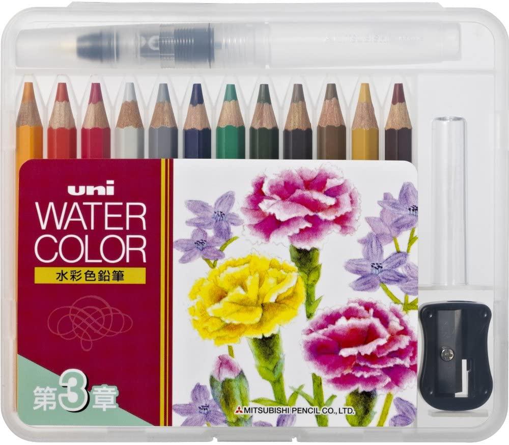 Uni Mitsubishi Pencil Water color compact 12 colors Chapter 3 UWCNCS12C3 (japan import)