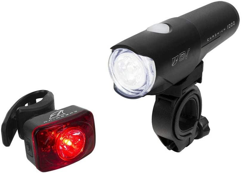 BV Chromium Super Bright (800 Lumens) USB Rechargeable Bike Headlight with Free Taillight| 2500mAh Lithium Battery | Water Resistant IP44 - Fits All Bicycles with Multiple Mounting Options