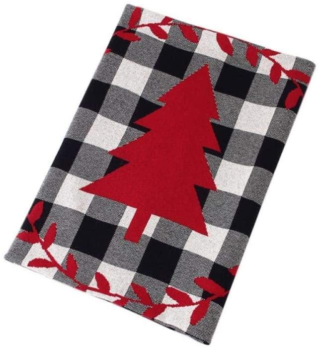 Baby Blanket Milestone-Baby Christmas Tree Classic Plaid Blanket Children s Knitted Air Conditioning Blanket Children Blanket