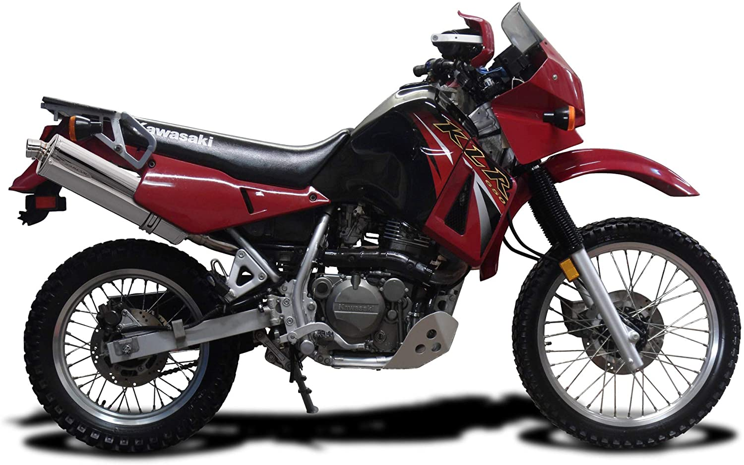 Delkevic Aftermarket Slip On compatible with Kawasaki KLR650A 18