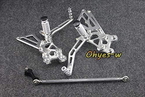 Frames & Fittings Silver Adjustable Rear Sets Motorcycle Foot Pegs for ZX-14R 06-11 Universal