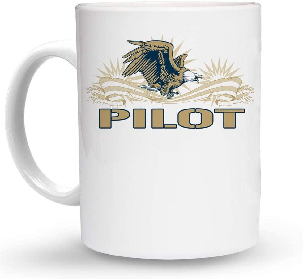 Makoroni - PILOT Aviation Pilot 6 oz Ceramic Espresso Shot Mug/Cup Design#64