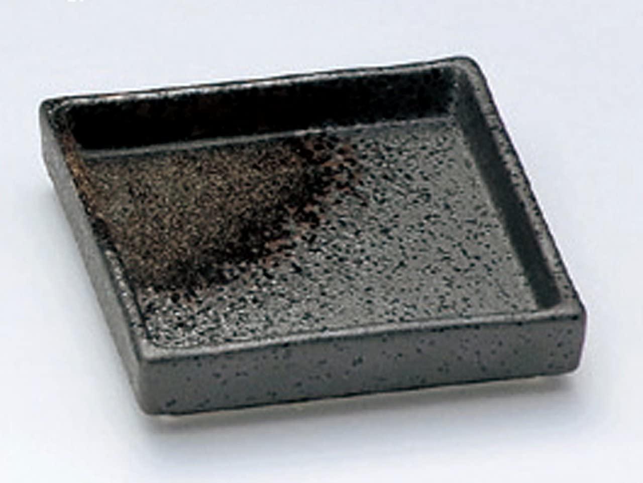 BLACK-IGA Jiki Japanese Porcelain Small Plate