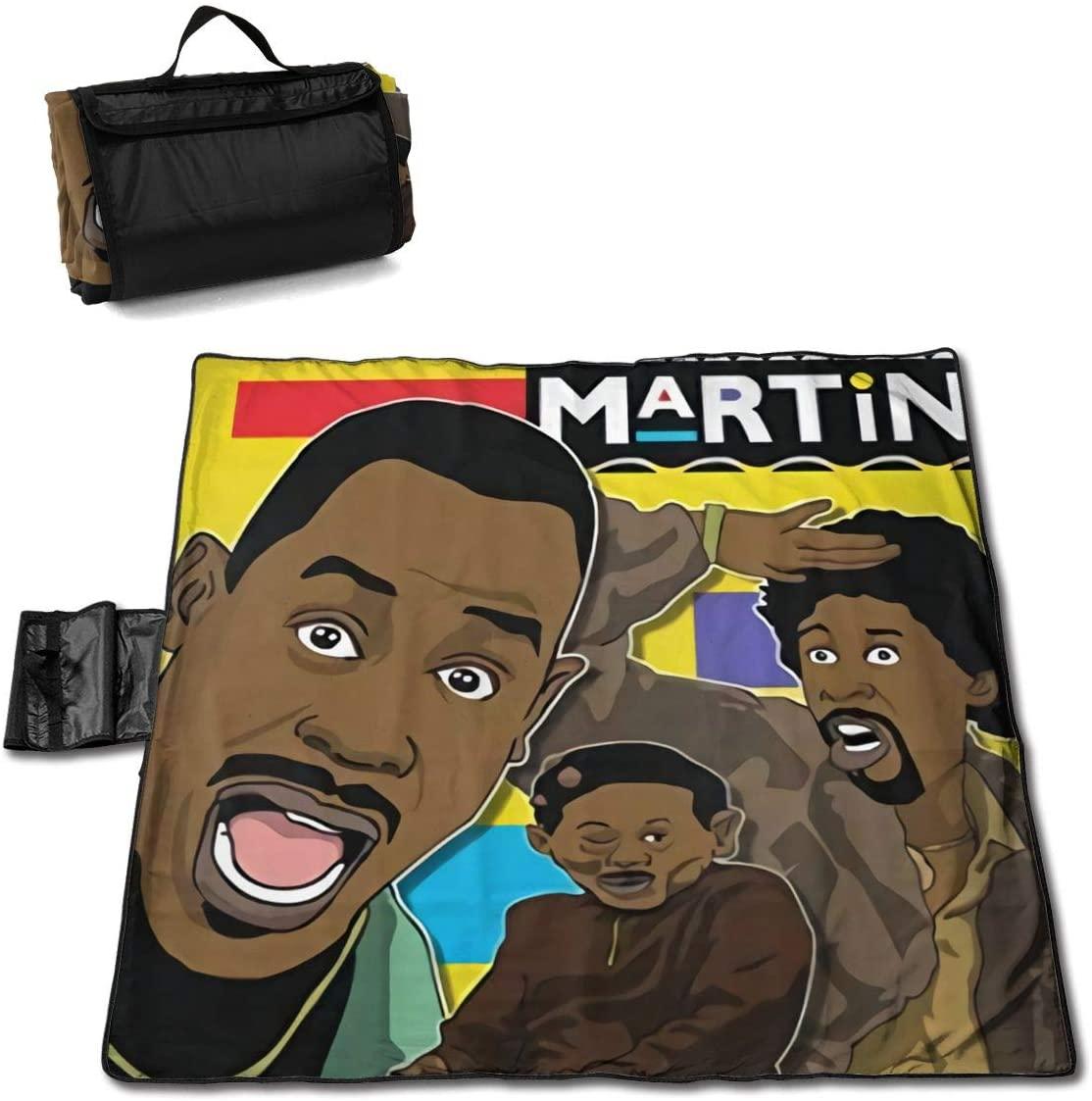 Fulu Cool Martin Lawrence Art Portable Printed Picnic Blanket Waterproof 59x57(in)