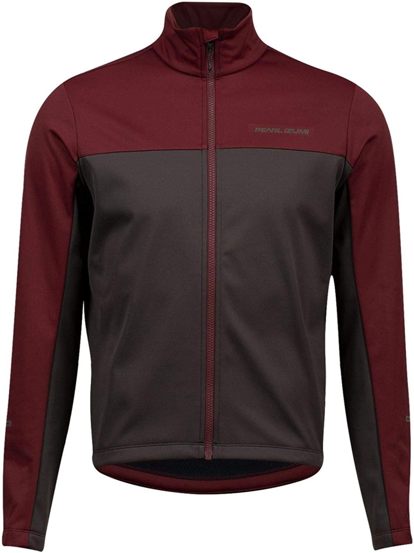 PEARL IZUMI Men's Quest AmFIB Cycling Jacket, Garnet/Phantom, X-Large