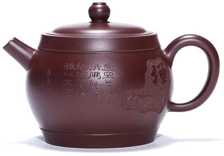 ZXY-NAN Ceramic Zen Blessing Drum Yixing teapot Famous Handmade Purple Clay teapot Travel Tea