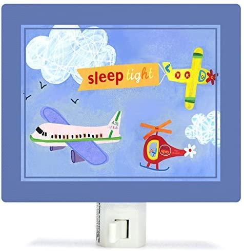 Oopsy Daisy Fine Art for Kids NL1515JM Sleep Tight Airplanes Night Light