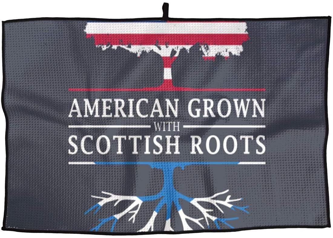 SHARP-Q American Grown Scottish Roots Premium Golf Towel Fashion Towel