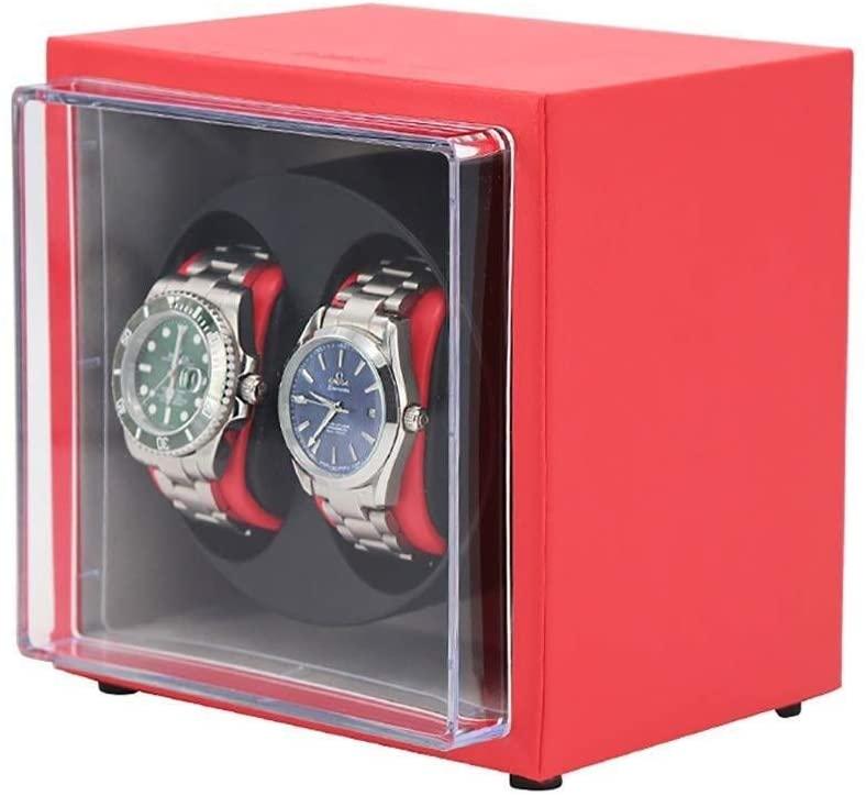 KANULAN Watch Winder Automatic Mechanical Watch Winder Box Automatic Double Watch Winder Rotator 2 Watch Rotating Automatic Storage Box