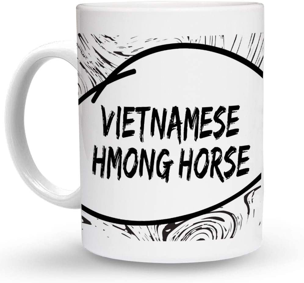 Makoroni - Vietnamese Hmong Horse 6 oz Ceramic Espresso Shot Mug/Cup Design#66
