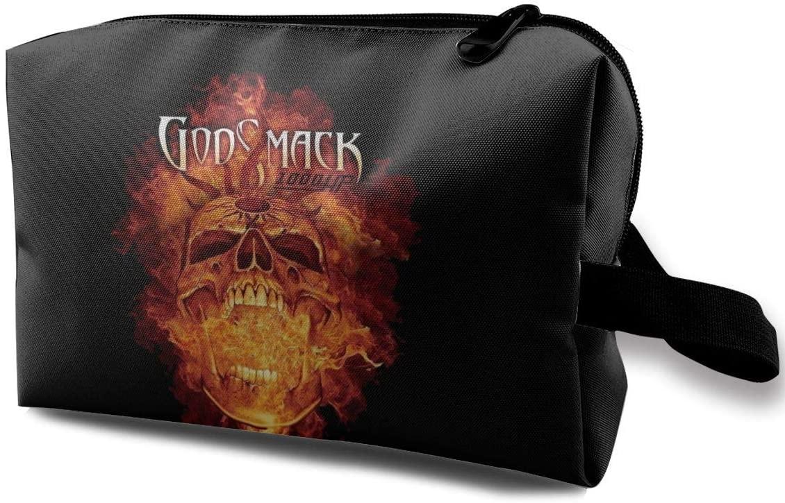 Qq1-asd-store Godsmack Toiletry Bag Multifunction Cosmetic Bag Portable Makeup Pouch for Men & Women Travel Organizer Bag