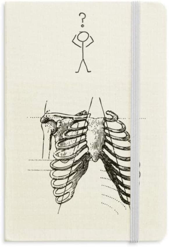 Rib Bone Human Skeleton Sketch Question Notebook Classic Journal Diary A5