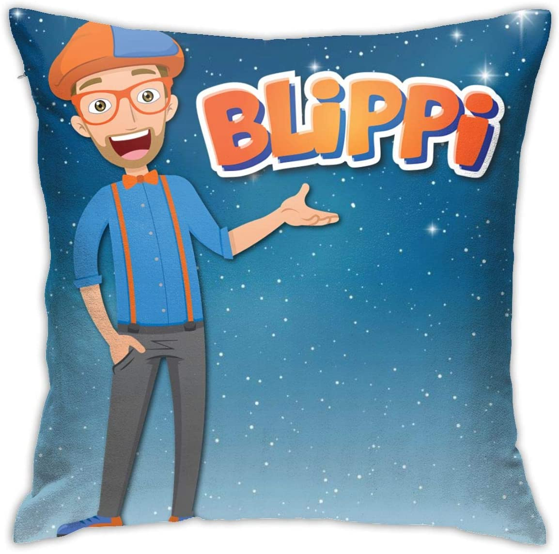 Trzrwfstwz Blippi Pillow,Home Decorative Throw Pillow Cover for Couch/Sofa/Bedroom/Livingroom/Kitchen/Car 18 X 18 Inch Square Pillow Case