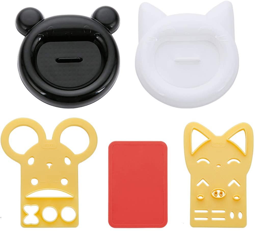 MOCOHANA Rice Ball Mold Set Cat Bear Rice Mould Onigiri Bento Press Maker Sushi Egg Chocolate Sandwich Mold DIY Kitchen Tool