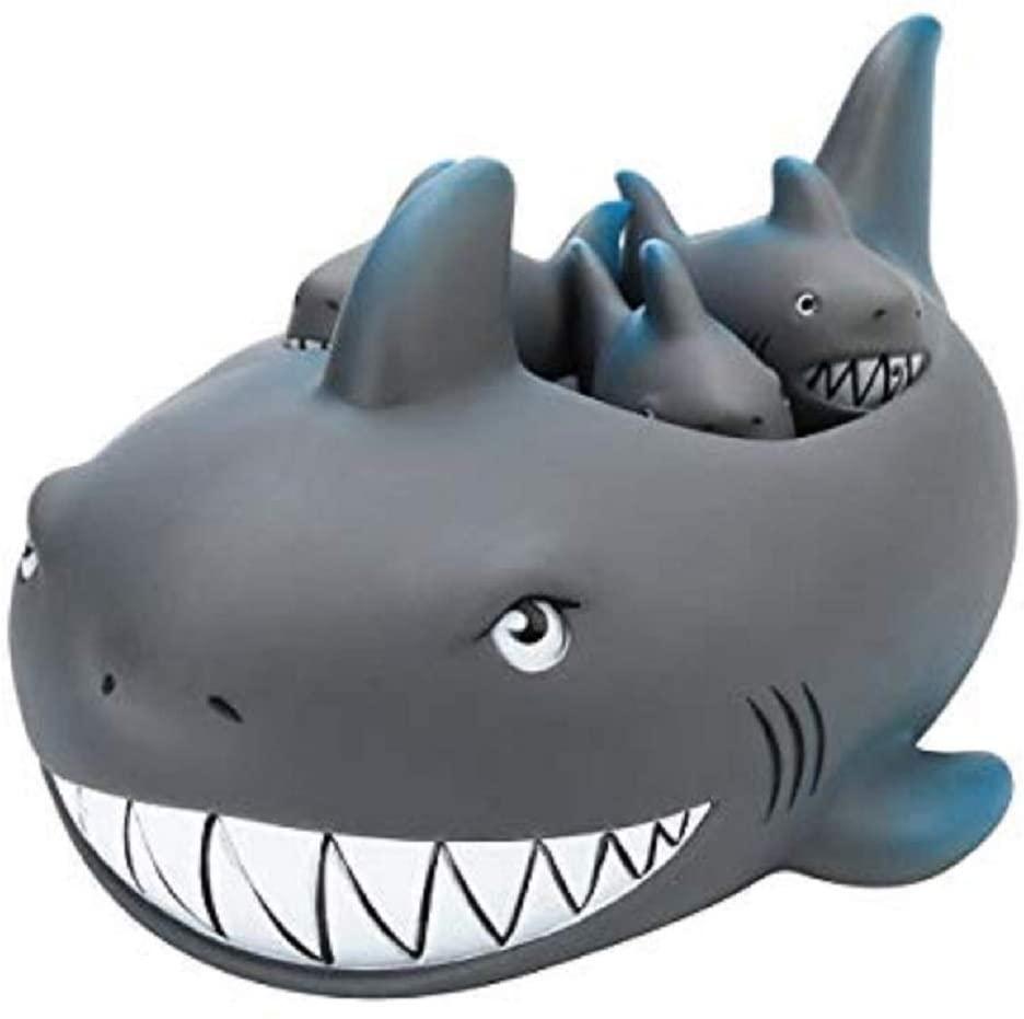 Playmaker Toys Rubber Shark Family Bathtub Pals - Floating Bath Tub Toy