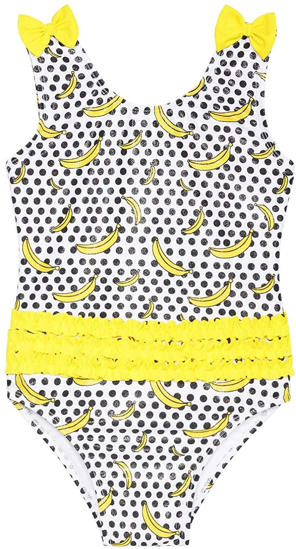 Sol Swimwear Girls 1-Pc. Going Bananas Swimsuit