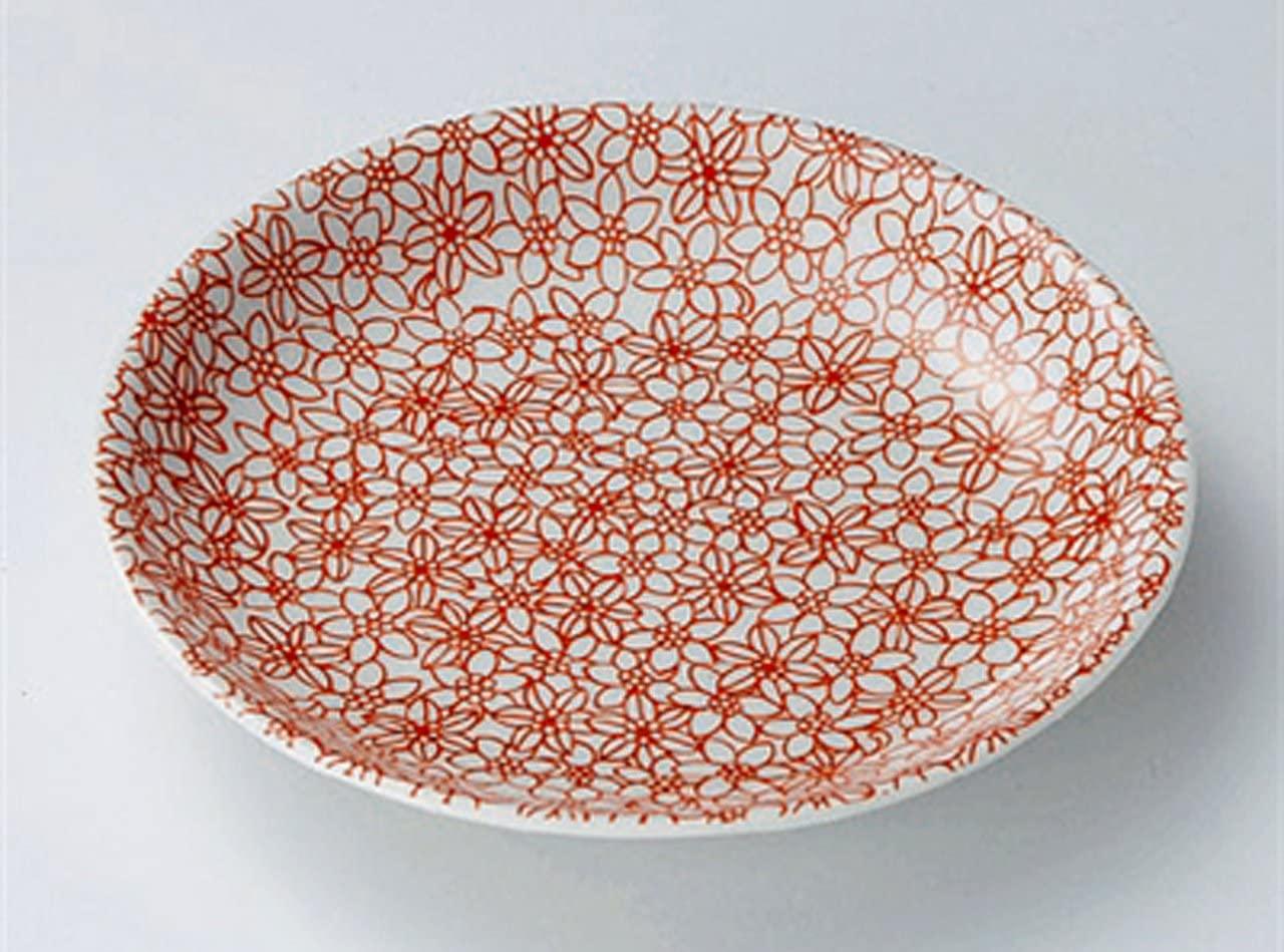 RED-KOMON Jiki Japanese Porcelain Small Plates Set of 5
