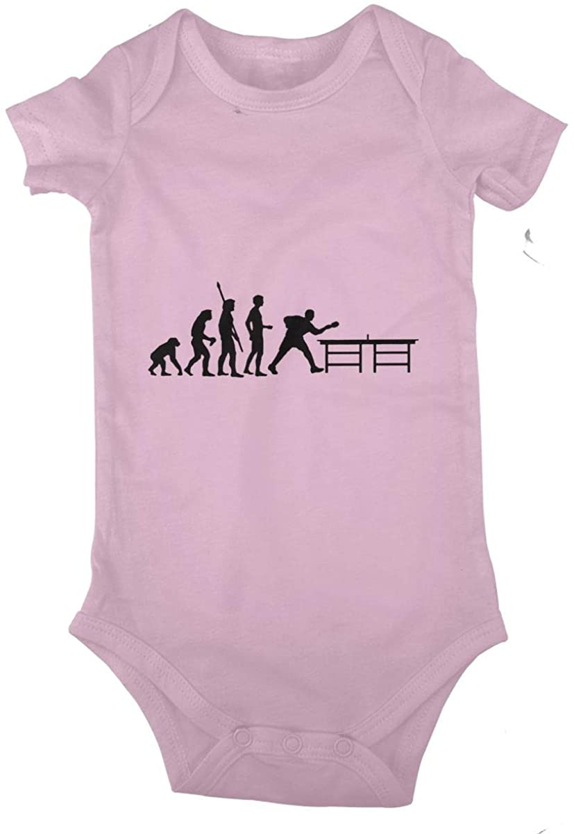 LzVong Table Tennis Evolution Cotton Baby Short Sleeve Bodysuits Jersey Rompers