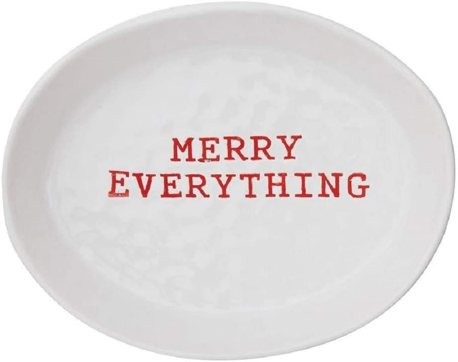 Creative Co-op Merry Everything Ceramic Holiday Serving Platter