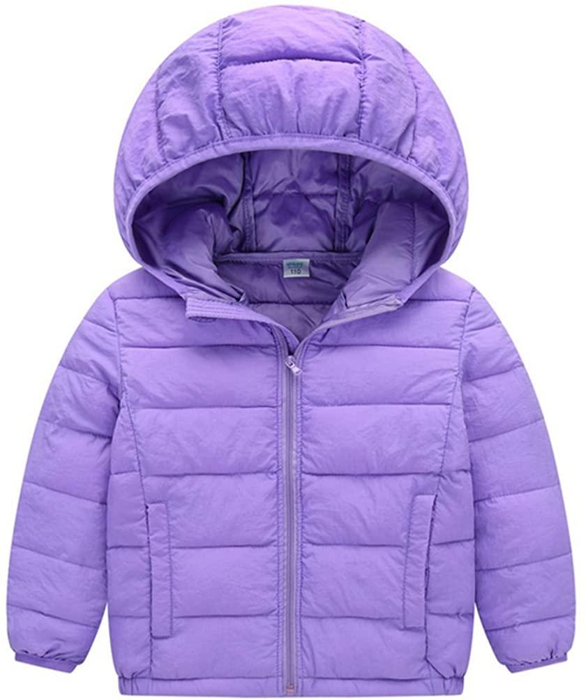 JIEYA Boy Girl Kids Winter Windproof Outerwear Hooded Coat Down Jacket