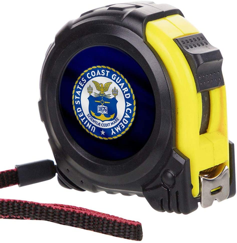 ExpressItBest Tape Measure with 16 Foot Steel Tapeline - US Coast Guard Academy (USCGA), Seal