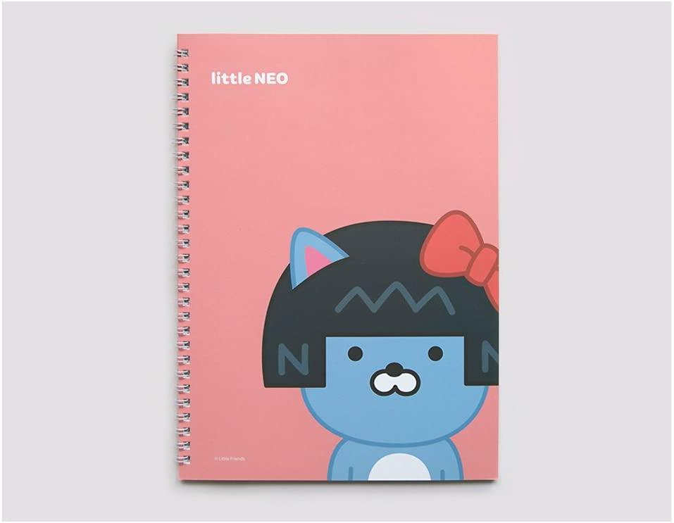 Kakao Talk Kakao Little Friends Spiral Lined Notebook Note Pad (Little Neo)