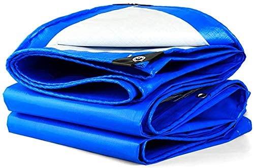 HOMRanger Blue Double-Sided Waterproof Polthylene (PE) Tarpaulin Household Industrial Tarpaulin Shade Cloth. (Size : 7X8m)