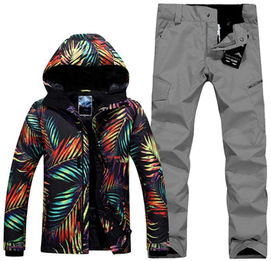 Men's Single Double Board Ski Suit Outdoor Winter Thickening Warm Windproof Waterproof Ski Jacket Ski Pants