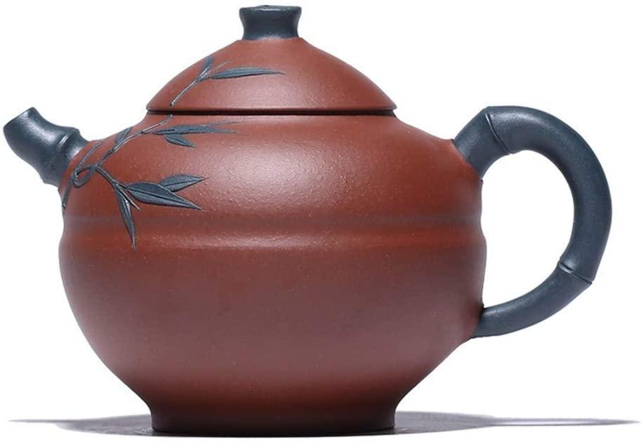 ZXY-NAN Ceramic Purple Clay teapot ore Level of Pure Handmade Bamboo Tea Boxes Section