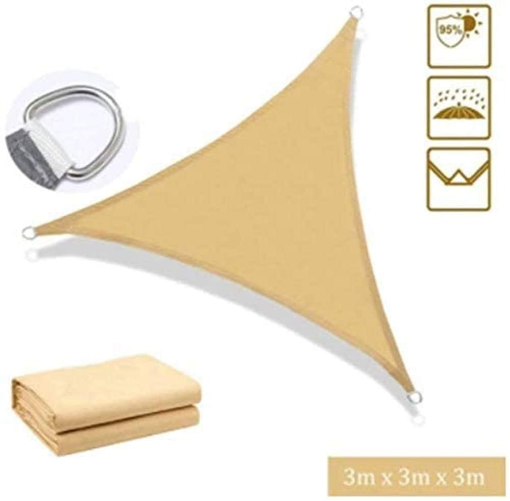Triangle Sun Shade Sail | Waterproof Fabric | UV Shading | Sunscreen Awning Canopy | Shade Cover Canopy for Outdoor, Patio, Garden